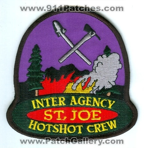 Saint Joe Inter Agency HotShot Crew Forest Fire Wildfire Wildland Patch Idaho ID
