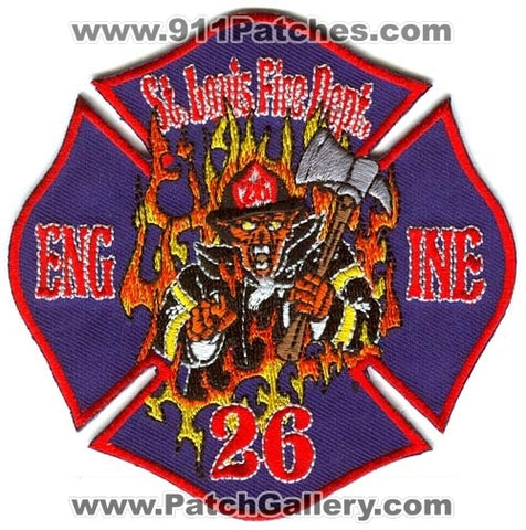 Saint Louis Fire Department Engine 26 Patch Missouri MO
