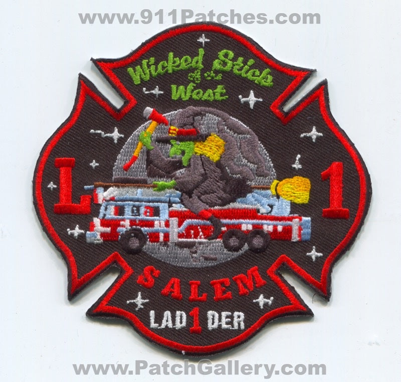 Salem Fire Department Ladder 1 Patch Massachusetts MA