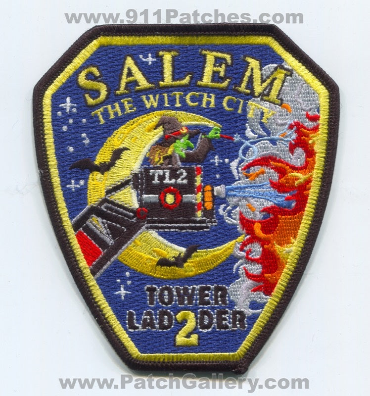 Salem Fire Department Tower Ladder 2 Patch Massachusetts MA