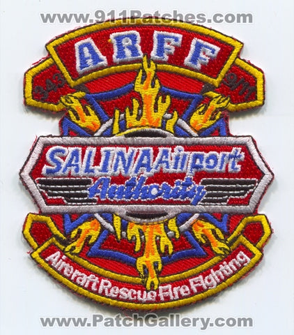 Salina Airport Authority Aircraft Rescue Fire Fighting ARFF Patch Kansas KS