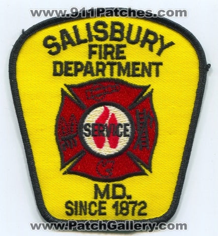 Salisbury Fire Department Patch Maryland MD