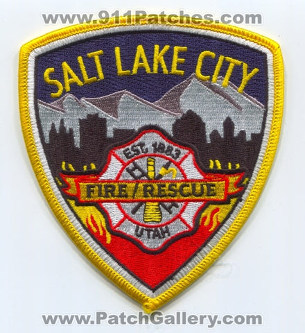 Salt Lake City Fire Rescue Department Patch Utah UT