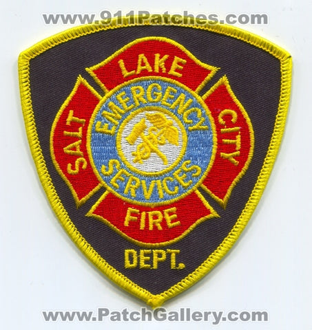 Salt Lake City Fire Department Emergency Services Patch Utah UT
