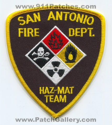 San Antonio Fire Department Haz-Mat Team Patch Texas TX