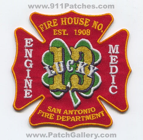 San Antonio Fire Department Station 13 Patch Texas TX