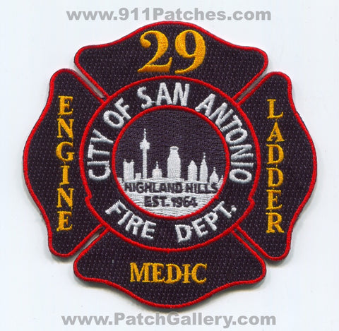 San Antonio Fire Department Station 29 Highland Hills Patch Texas TX