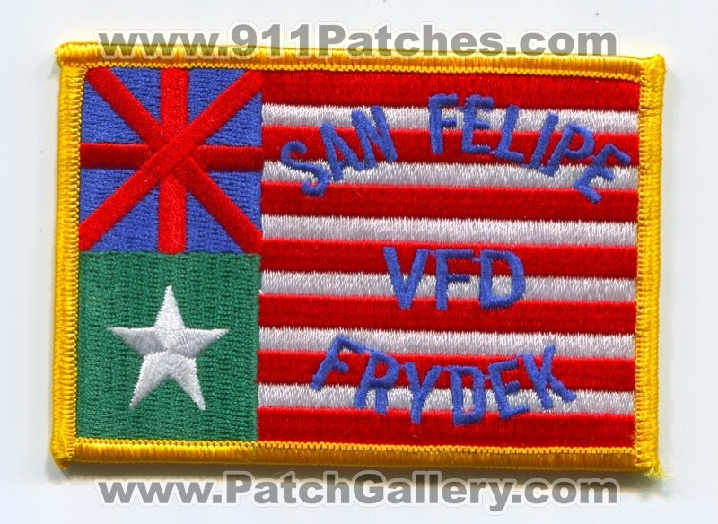 San Felipe Frydek Volunteer Fire Department Patch Texas TX