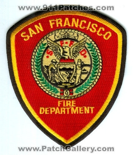 San Francisco Fire Department Patch California CA