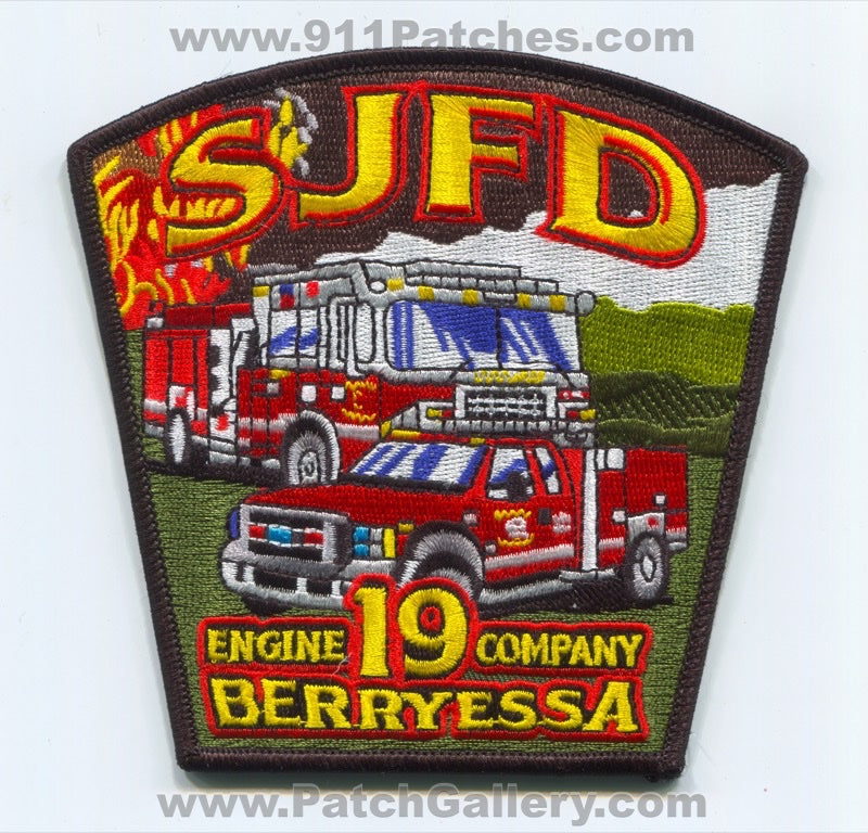San Jose Fire Department Engine Company 19 Patch California CA Berryessa