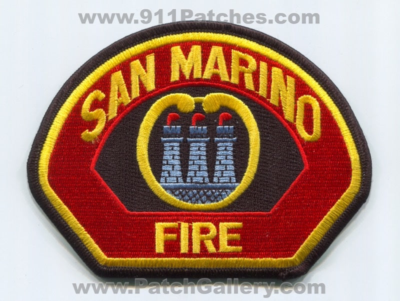 San Marino Fire Department Patch California CA