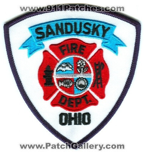Sandusky Fire Department Patch Ohio OH