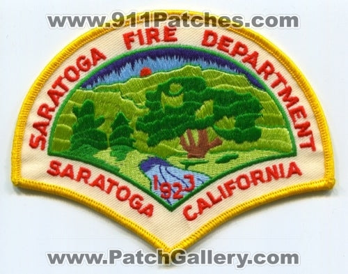 Saratoga Fire Department Patch California CA SKU165 SKU209 SKU269
