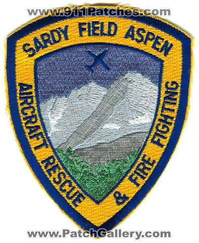 Sardy Field Aspen Aircraft Rescue and Fire Fighting Department Patch Colorado CO