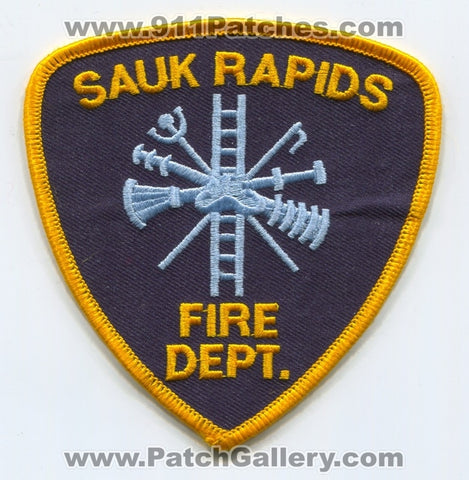 Sauk Rapids Fire Department Patch Minnesota MN