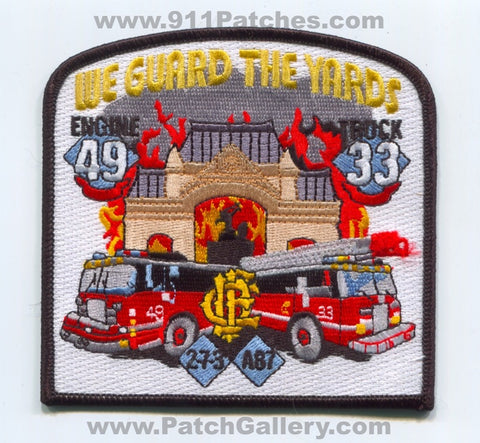 Chicago Fire Department Engine 49 Truck 33 Ambulance 87 Patch Illinois IL