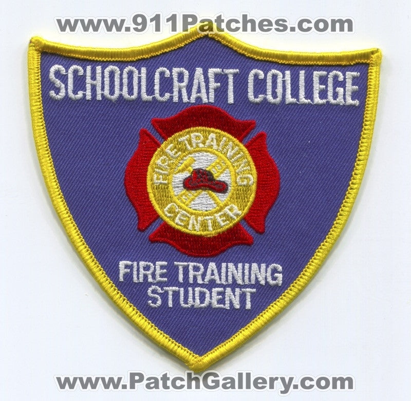 Schoolcraft College Fire Training Center Student Patch Michigan MI