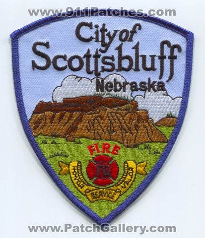 Scottsbluff Fire Department Patch Nebraska NE