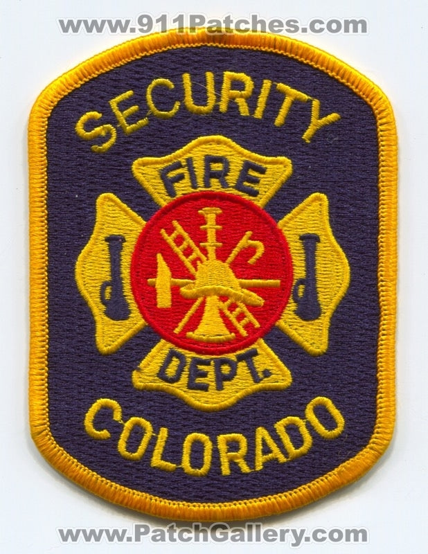 Security Fire Department Patch Colorado CO