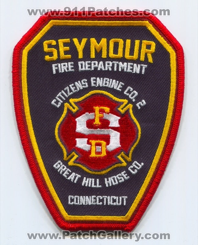 Seymour Fire Department Patch Connecticut CT
