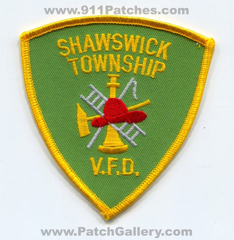 Shawswick Township Volunteer Fire Department Patch Indiana IN
