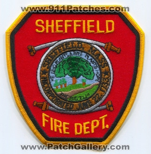 Sheffield Fire Department Patch Massachusetts MA