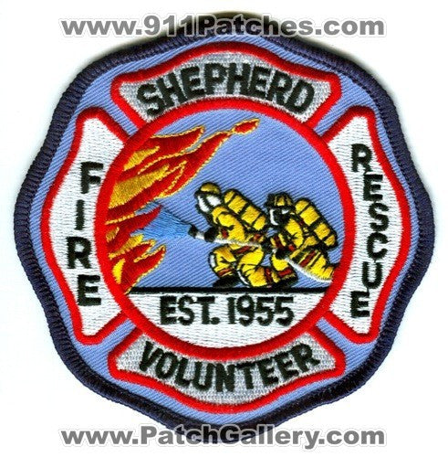 Shepherd Volunteer Fire Rescue Department Patch Unknown State