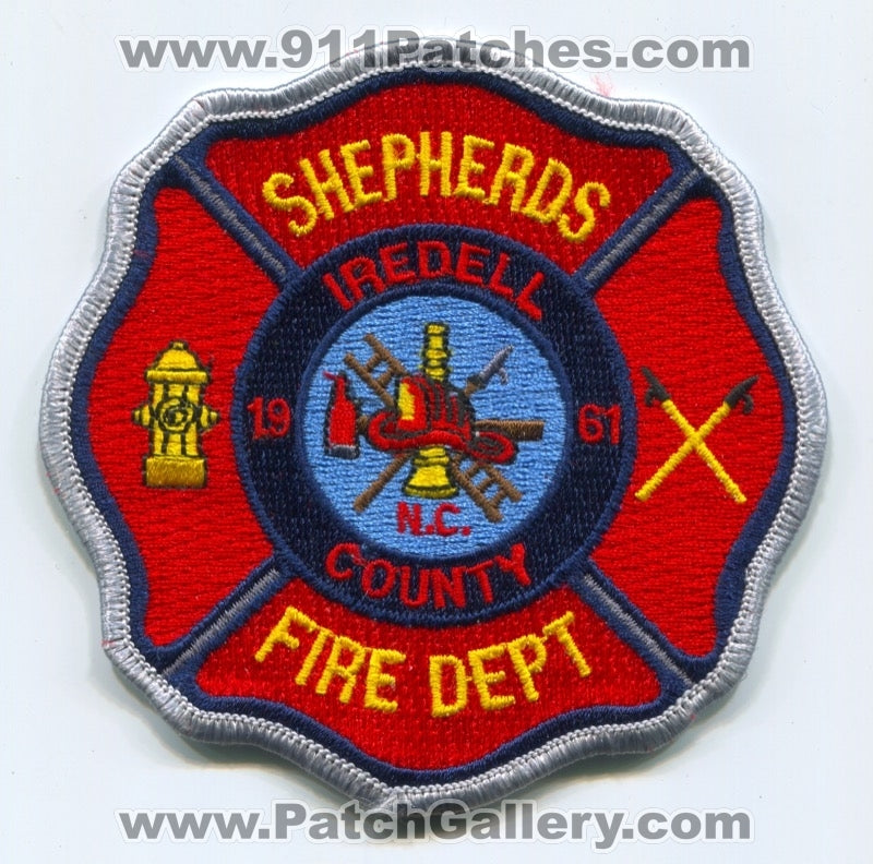 Shepherds Fire Department Patch North Carolina NC