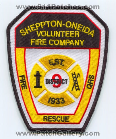 Sheppton-Oneida Volunteer Fire Company District 9 Patch Pennsylvania PA