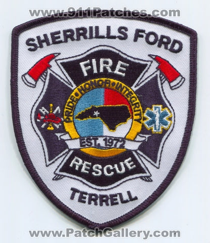 Sherrills Ford Terrell Fire Rescue Department Patch North Carolina NC