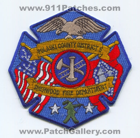 Sherwood Fire Department Pulaski County District 5 Patch Arkansas AR
