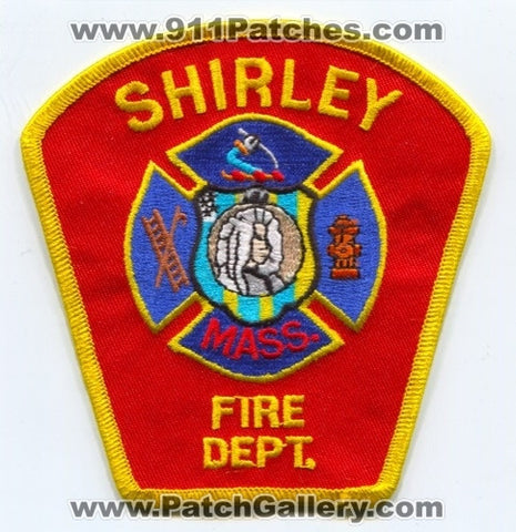 Shirley Fire Department Patch Massachusetts MA
