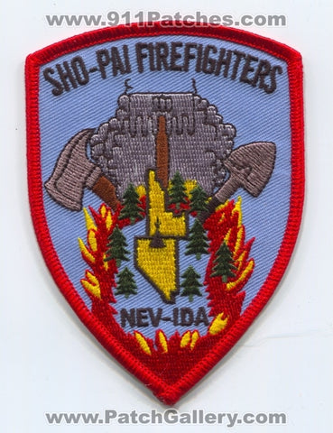 Sho-Pai Tribes Fire Department Firefighters Patch Nevada NV