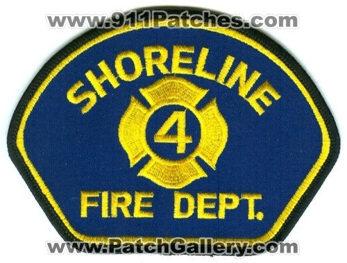 Shoreline Fire Department King County District 4 Patch Washington WA