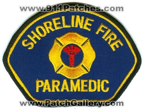 Shoreline Fire Department Paramedic Patch Washington WA