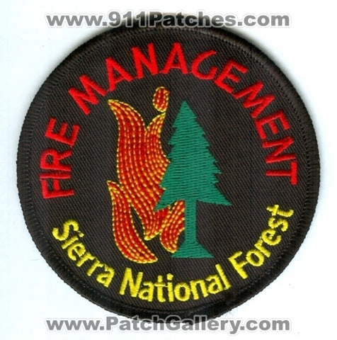 Sierra National Forest Fire Management Wildfire Wildland Patch California CA