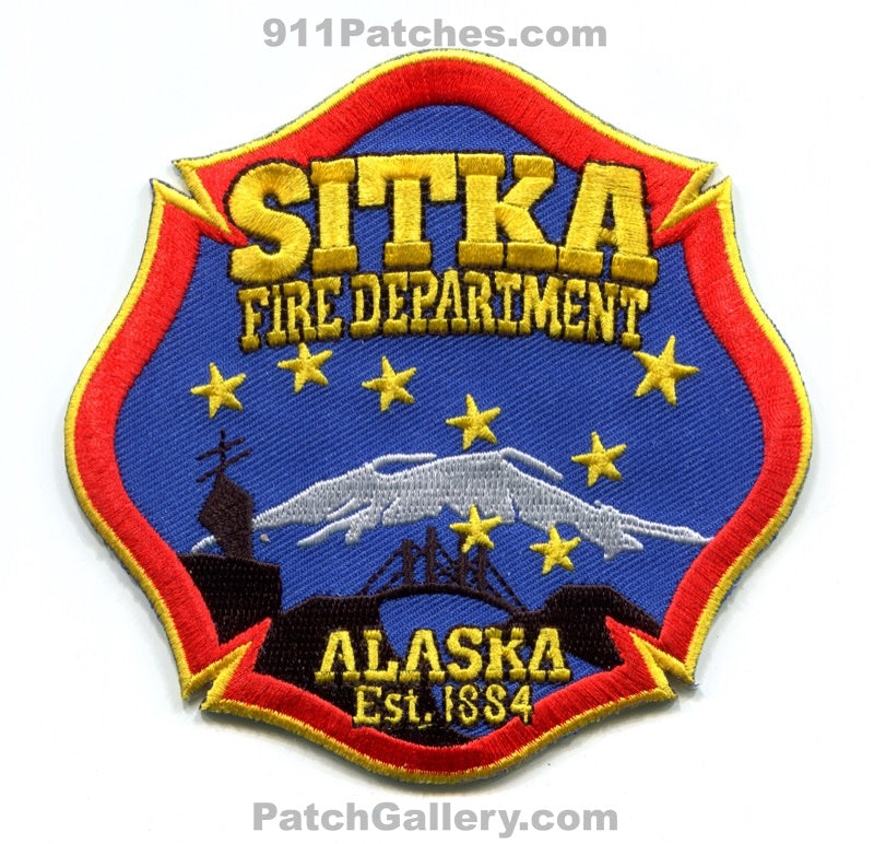Sitka Fire Department Patch Alaska AK