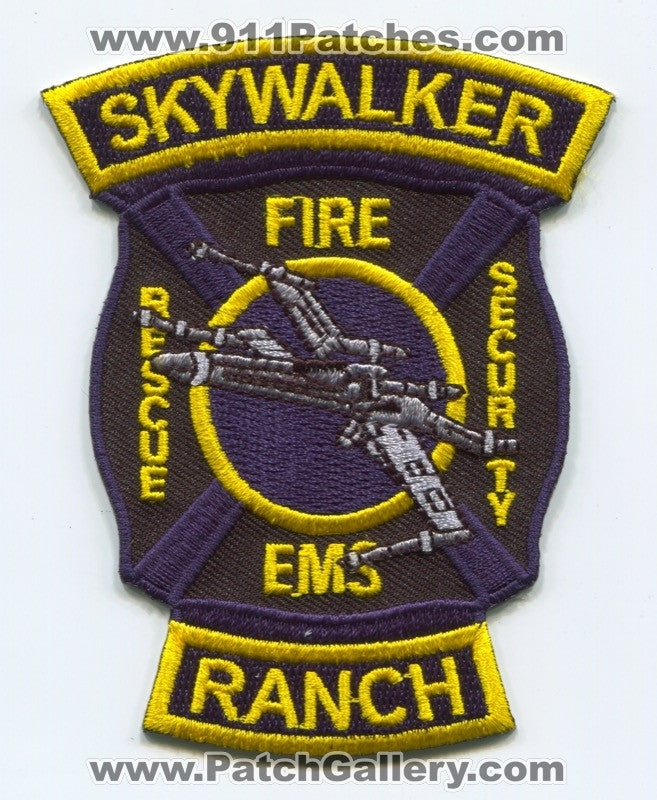 Skywalker Ranch Fire Department Patch California CA