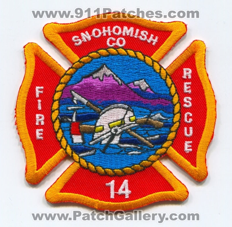 Snohomish County Fire District 14 Patch Washington WA