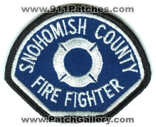 Snohomish County Fire District Firefighter Patch Washington WA