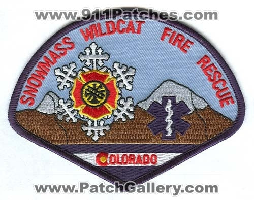 Snowmass Wildcat Fire Rescue Department Patch Colorado CO
