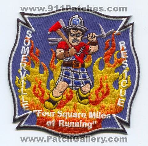 Somerville Fire Department Rescue 1 Patch Massachusetts MA
