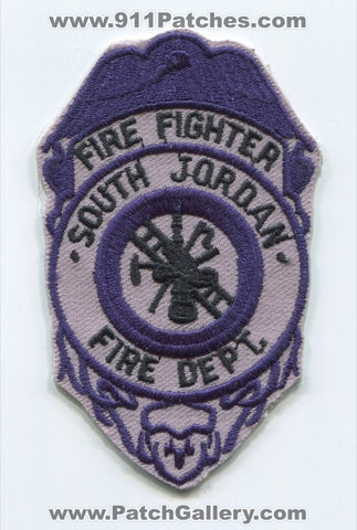 South Jordan Fire Department Firefighter Patch Utah UT