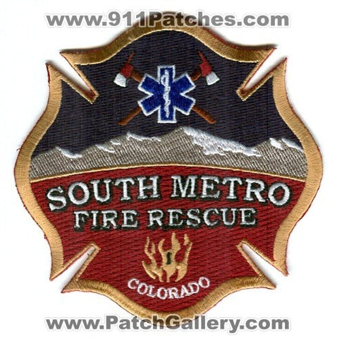 South Metro Fire Rescue Authority Department Patch Colorado CO