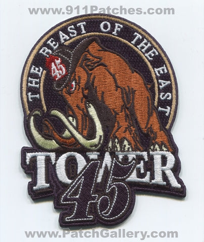 South Metro Fire Rescue Department Tower 45 Patch Colorado CO Woolly Mammoth