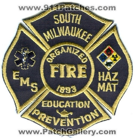 South Milwaukee Fire Department Patch Wisconsin WI