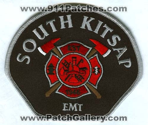 South Kitsap Fire Rescue Department EMT EMS Patch Washington WA