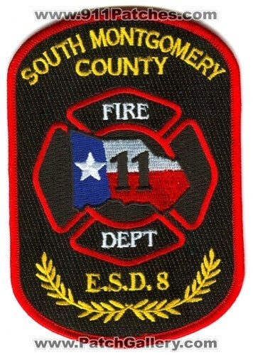 South Montgomery County Fire Department ESD 8 Patch Texas TX