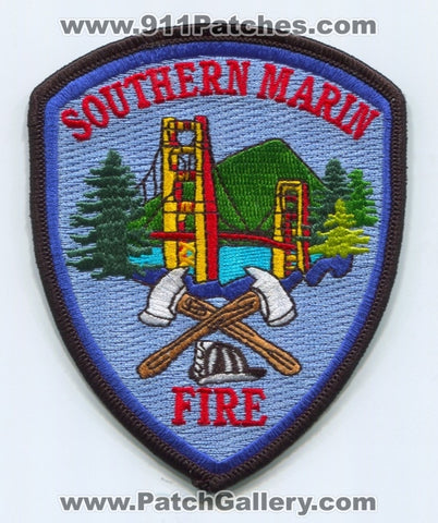 Southern Marin Fire Department Patch California CA