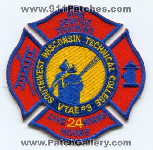 Southwest Wisconsin Technical College Fire Service Training Patch Wisconsin WI